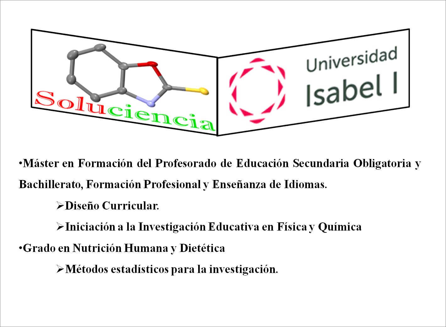 Formación: Soluciencia y Universidad Isabel I
